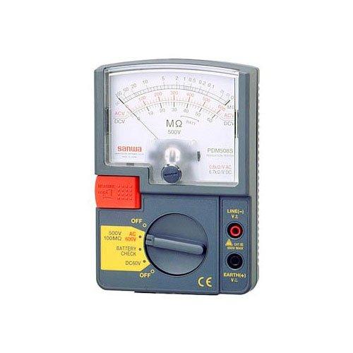 SANWA アナログ絶縁抵抗計 500V PDM508S B004XKR57Y