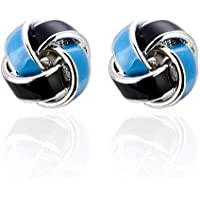 Blue And Black Twist Cufflinks Extreme Classic Mens French Shirt Cufflinks