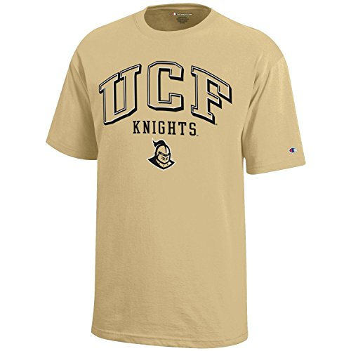 NCAA Champion Boy's Short Sleeve Jersey T-Shirt, UCF Golden Knights, Large