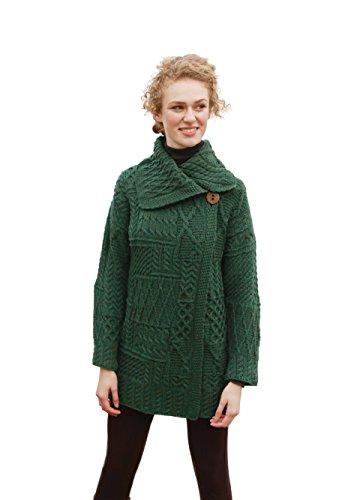 Aran Woollen Mills Irish Patchwork Wool Knit Coat ()