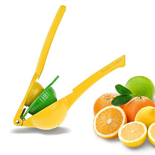 Lemon and Lime Squeezer Citrus Juicer - 2-Size Double Bowl - Heavy Duty - Enameled Aluminum - For Vitamin Rich...