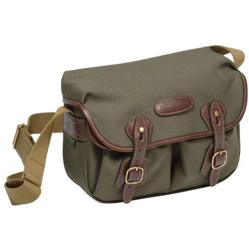 - Billingham Hadley Small Shoulder Bag for Digital/Photo SLR Body with 2 Lenses, or 1 Lens and Flash + Accessories, Sage with Chocolate Leather Trim