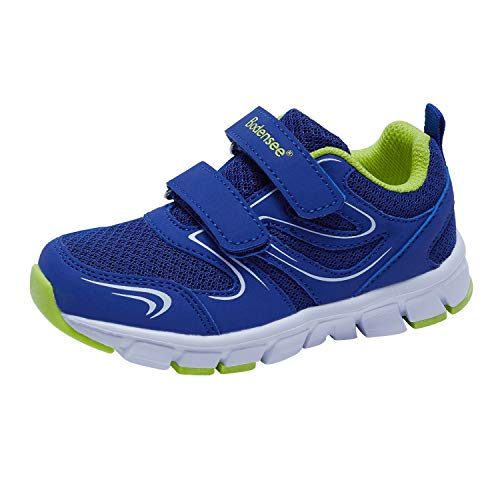 (BODENSEE Unisex Children Infant Toddler Sneakers for Boys Velcro Lightweight Low Top Sports Shoes Blue, 10 Toddler / EUR 27)