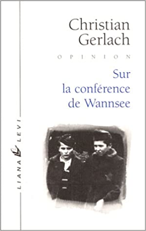 Lire Sur la conférence de Wannsee epub pdf