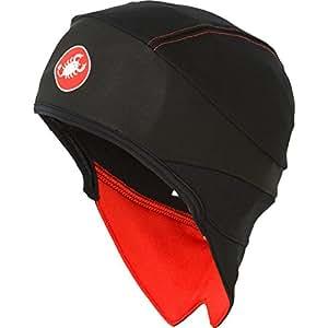 Gorro CASTELLI SKULLY WINDSTOPPER BERRETTO Negro/Rojo