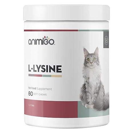 Animigo L-Lisina para Gatos - Suplemento Inmmunitario para Gatos. Contiene L-Lisina