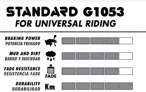 GALFER Pastillas de Freno Hope M4 Negro Std Bicicleta G1053 Adulto Unisex Talla /única