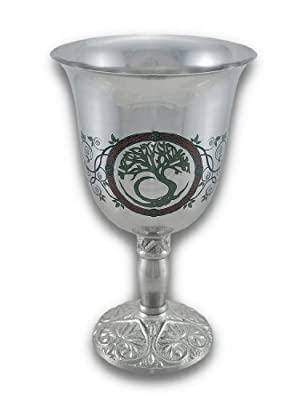 Chalice Stainless Steel w/Print Tree of Life