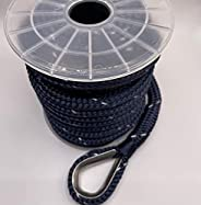 """Empire ropes Nylon Anchor line Double Braided Ropes 1/2"""" x50' for Marine, Boat, Rigging with 316 Stainles"""