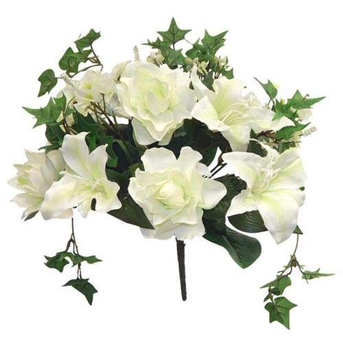 Ivory-Cream-Gardenia-Tiger-Lily-Ivy-Bouquet-Silk-Wedding-Flowers-Centerpieces