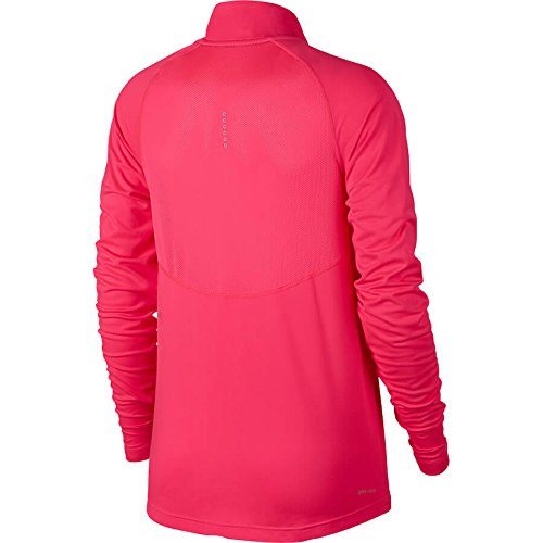 Women's Half Zip Core Long Sleeve Running Top - Racer Pink