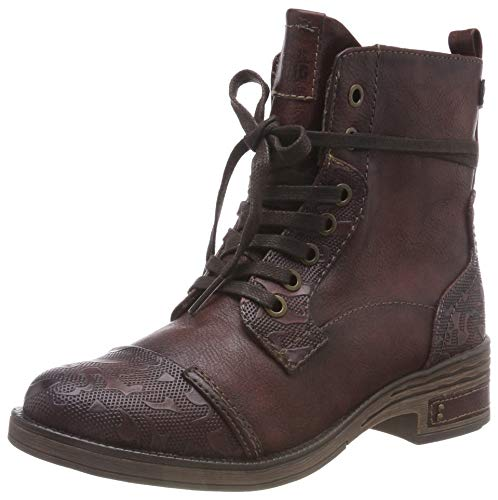 Stiefelette bordeaux Botines 55 Mustang Femme Rouge Zwdqd4f