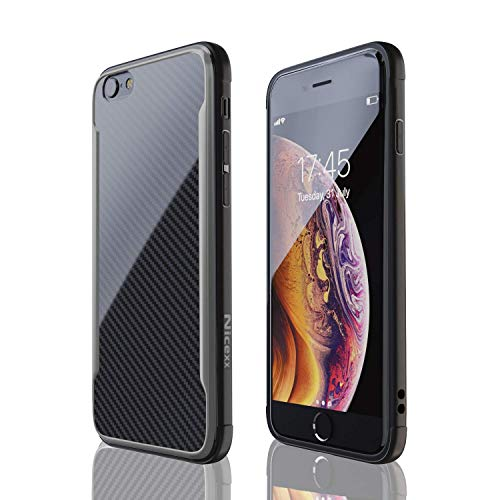 iPhone 6 Case | iPhone 6S Case | Shockproof, 12ft. Drop Tested, Carbon Fiber Case, Lightweight, Scratch Resistant, Compatible with Apple iPhone 6/iPhone 6S - Black