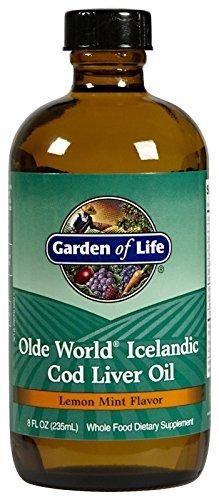 Garden of Life - Olde World Icelandic Cod Liver Oil  Lemon mint flavour, 8 fl oz liquid