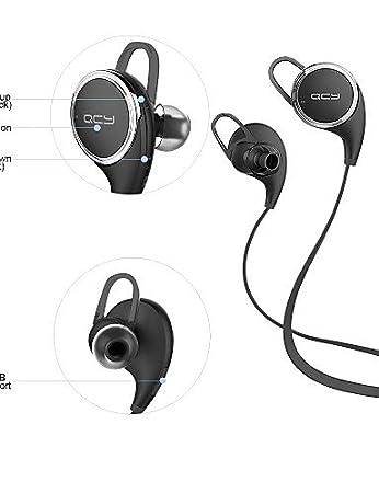 zzll8451 qy8 qcy los mini deportes estéreo inalámbricos que ejecutan earbuds auriculares bluetooth auriculares (blanco& negro), black KKKAOOL: Amazon.es: ...
