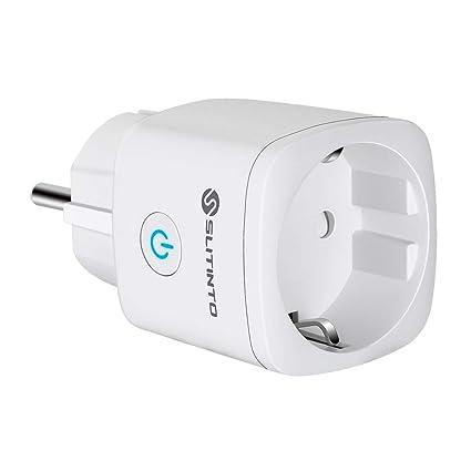 Enchufe Inteligente Wifi Compatible con Alexa Echo,Google Home y IFTTT, SLITINTO Inalámbrico Smart