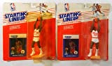 (2) 1988 (1) 1990 (1) 1992 Michael Jordan Basketball Starting Lineups BV$100+ - Autographed NBA Figurines