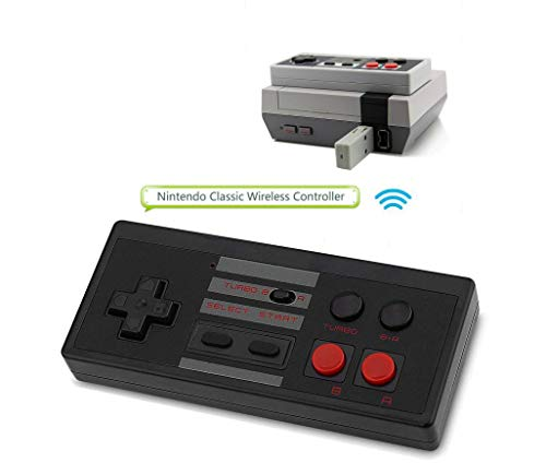 2.4G Wireless NES Mini Classic Controller, Rechargeable NES