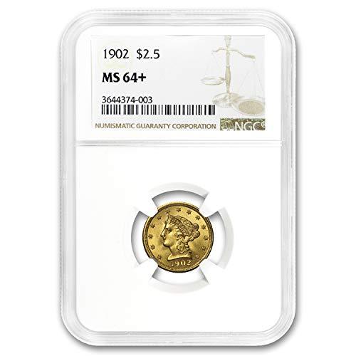 1902 $2.50 Liberty Gold Quarter Eagle MS-64+ NGC Quarter MS-64 NGC