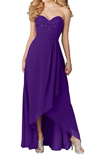 Lang Ivydressing Festkleid Herzform Violett Abendkleider Chiffon Damen Ballkleider Promkleid ATwHqptT