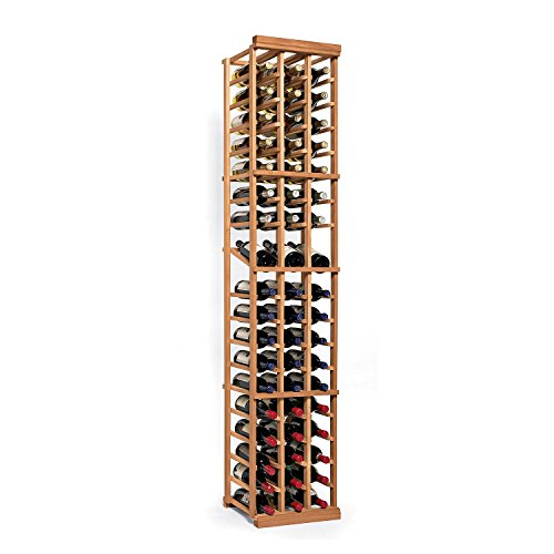 N'FINITY Wine Rack Kit - 3 Column with Display - Natural Finish - Solid Mahogany - Mahogany 3 Tier