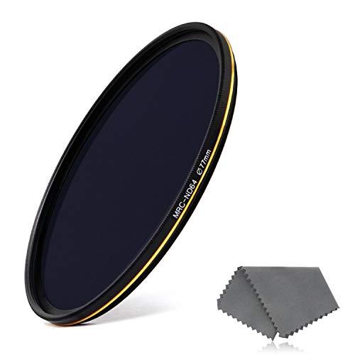 LENSKINS 77mm MRC ND64 Filter, German Optics, 6 Stop Neutral Density Photography Filter, 16-Layer Multiple Resistant Coated, Ultra-Slim, Weather-Sealed ND64 77 Filter Camera Lenses Lens Cloth