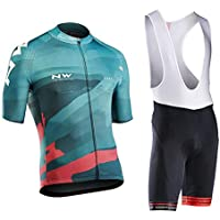Men's Cycling Suit Short Sleeve Cycling Clothing Set Comfortable Quick Dry Riding Sportswear with Jersey and 9D Gel…
