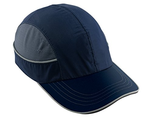 Safety Bump Cap, Baseball Hat Style, Comfortable Head Protection, Long Brim, Skullerz 8950 (Style Baseball Cap)