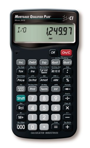 amazon com calculated industries 3416 mortgage qualifier plus