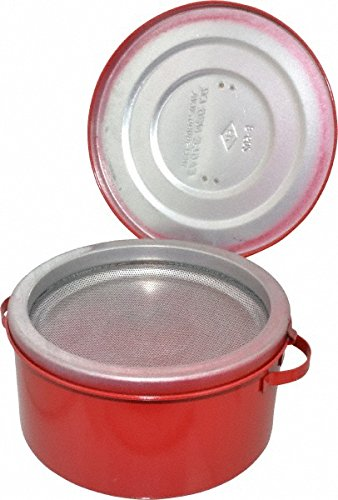 Eagle B-602 Safety Bench Cans, 4-1/4'' Height, 2 quarts, Metal