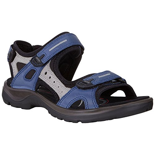 (ECCO Women's Yucatan outdoor offroad hiking sandal, Medieval/Wild Dove, 6-6.5 M US )