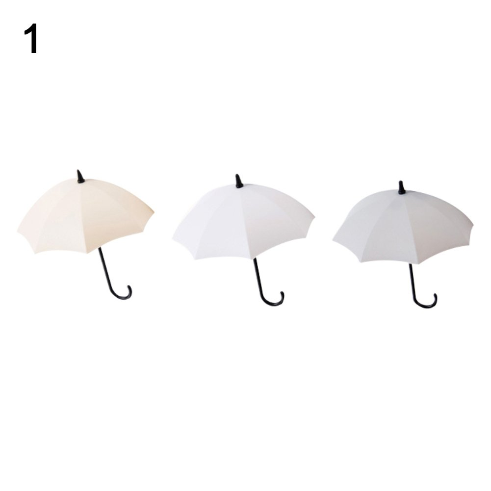 3Pcs Mini Umbrella Wall Hook Key Hanging Keyring Holder Decorative Organizer - 1# GlobalDeal