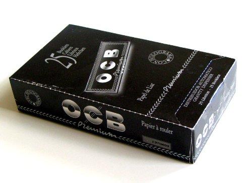 25 x rolling paper OCB Premium Black 1 1/4 - 78mm