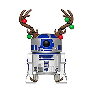 Funko Pop Star Wars: Holiday – R2D2 with Antlers Collectible Figure, Multicolor