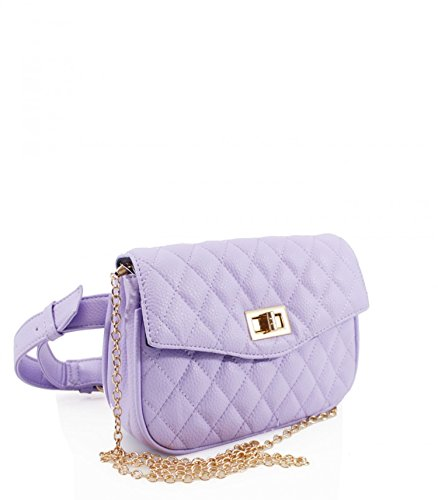 Party LeahWard Handbags Chain Bag Lilac For Women's 673 Strap Cross Shoulder Belt Body Quilted Velvet Bag rqOtH0r