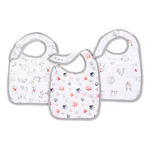 aden + anais Limited Edition Year Of The Dog Snap Bib, 3 Pack