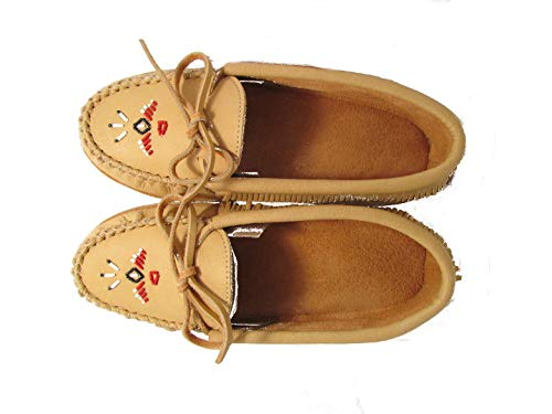 Double Tan Chief Sole Padded Laurentian Moccasin RX5n8nH