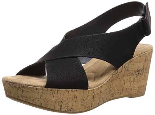 Cl By Chinese Laundry Women's Dream Girl Wedge Pump Sandal, Black Nubuck, 10 M US