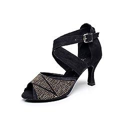 Women Rhinestone Latin Dance Shoe