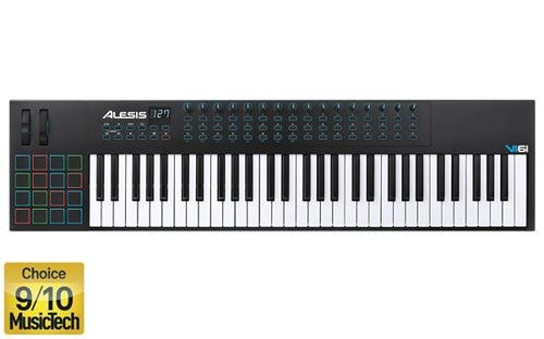 Alesis VI61 | Advanced 61-Key USB MIDI Keyboard & Drum Pad C