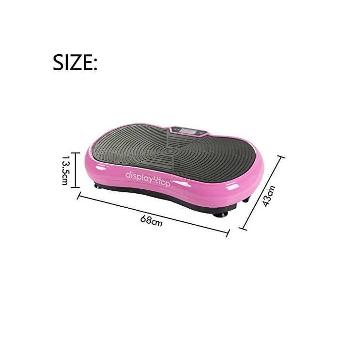 5 Programs 180 Levels Plataformas vibraci/ón para Fitness y p/érdida de Peso en casa Carga m/áxima de 150kgs Tener Altavoz Bluetooth Display4top Plataforma Vibratoria Ultra Delgado