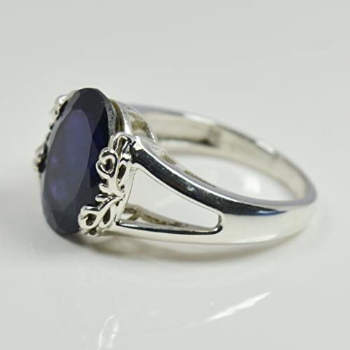 Jewelryonclick Genuine Mixed Cut Peridot and Iolite Ring For Men Sterling Silver Size US 4 to 12