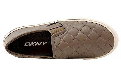 Donna Karan Dkny Kvinnor Bess Mode Mörka Ökenvadderat Läder Gymnastikskor