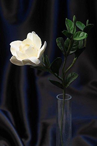 Flor De Arcilla Polimérica Artesanal Para Casa Gardenia Blanca