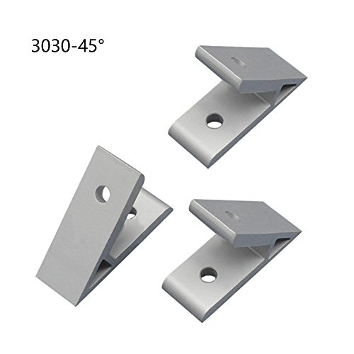 Whale GoGo 3 Pieces 3030 Aluminum Profile Corner Joint Connectors Corner Brackets Corner Braces (45 Degree Angle)