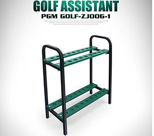 CRESTGOLF Golf Club Organizers Golf Club Display Shelf-----New Design Green, Metal
