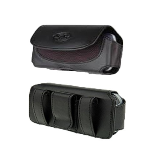 Premium High Quality Horizontal Leather Holster Pouch Protective Carrying Cell Phone Case For Motorola Tundra VA76r V365-Auction4tech