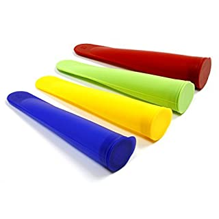Norpro 4-Piece Silicone Ice Pop Maker Set - Assorted Colors