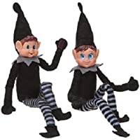 30cm Bend and Pose Elf - with Vinyl Faces and Loop Hands - The Bigger The Elf The More Mischielf
