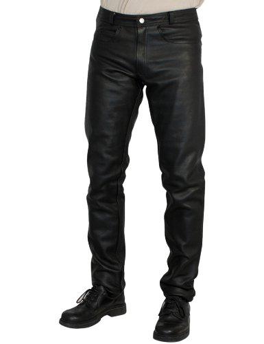 50 Negro Roleff Pantal/ón de Cuero Racewear